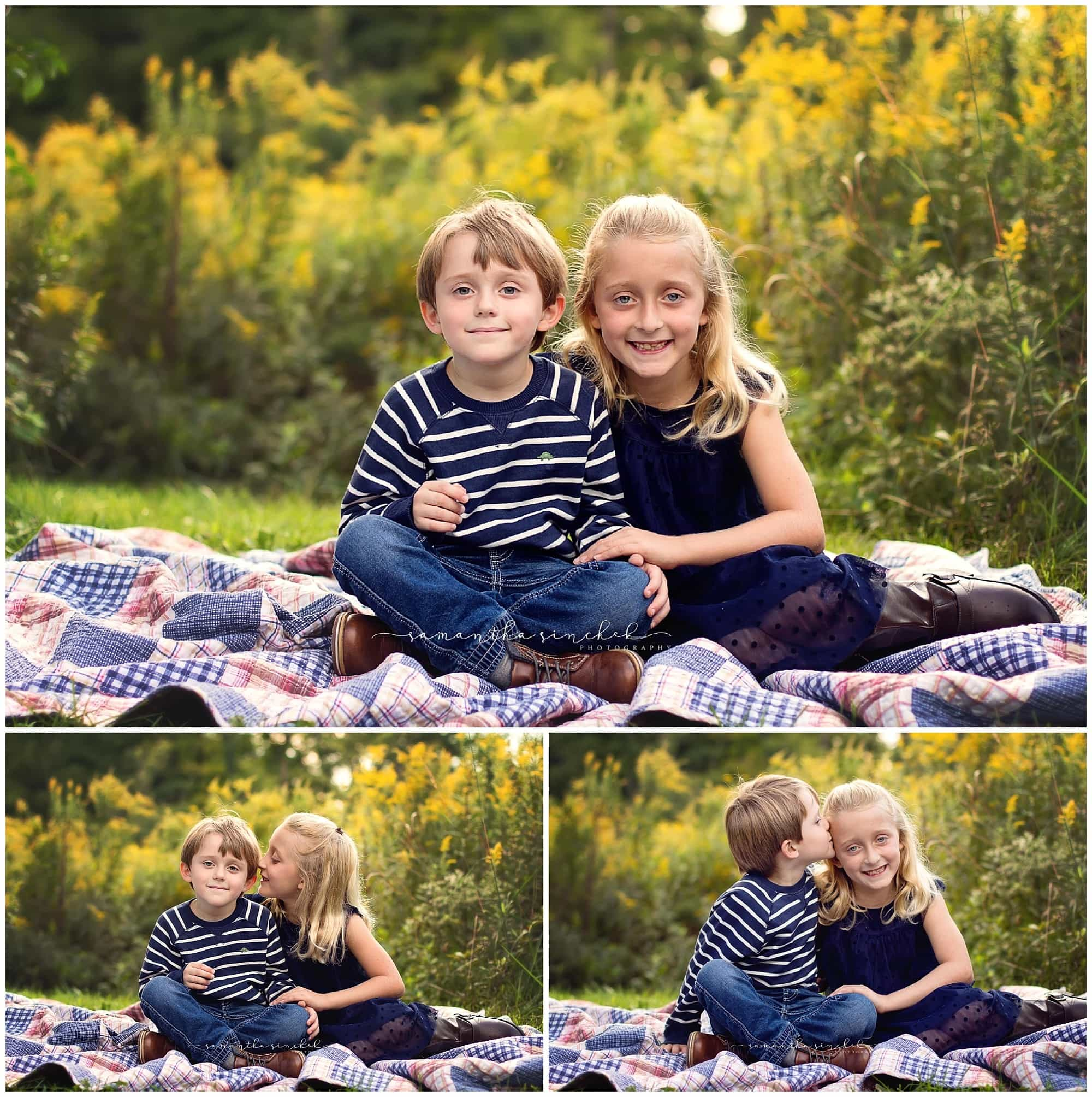 brother and sister pictures at Ault Park Cincinnati with beautiful fall colors