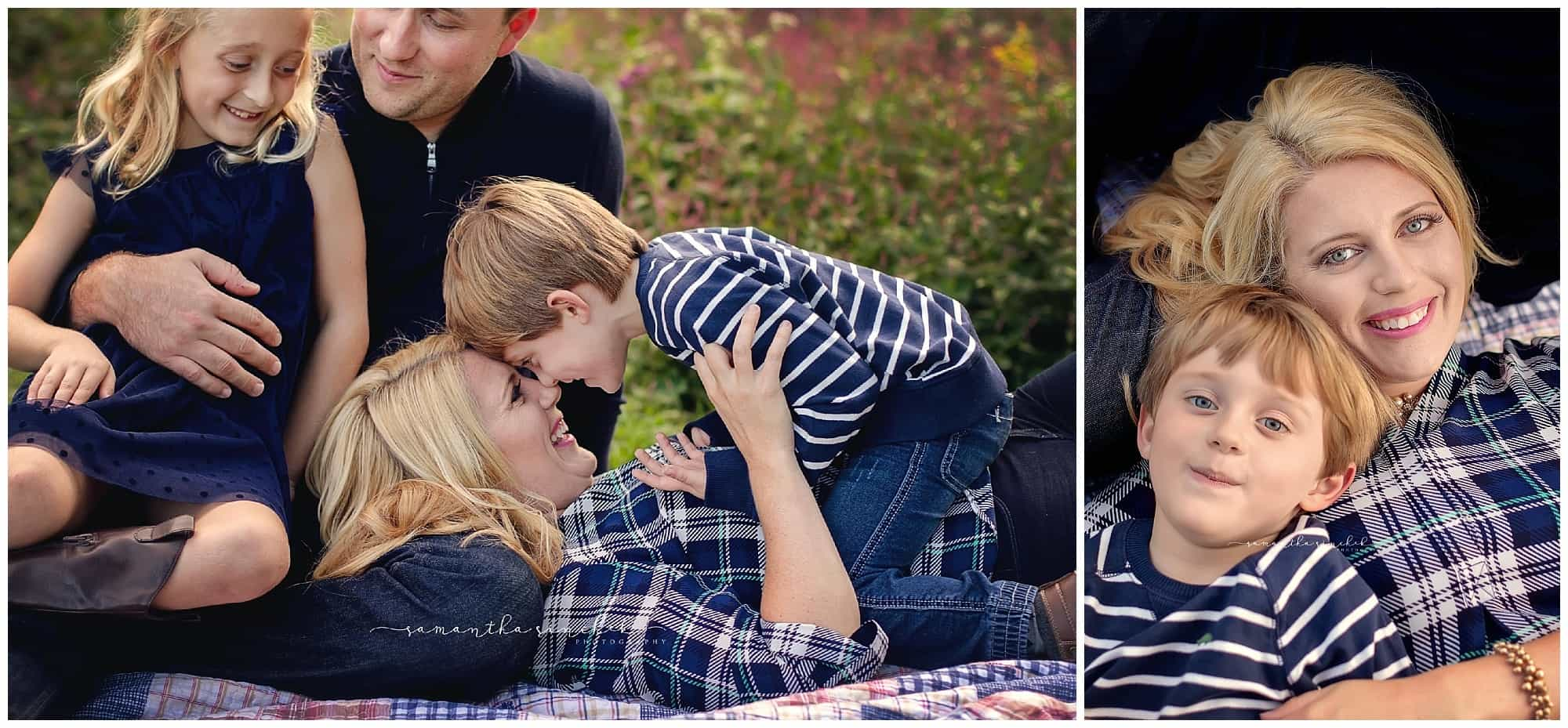 rohrkemper family pictures at Ault Park Cincinnati with beautiful fall colors