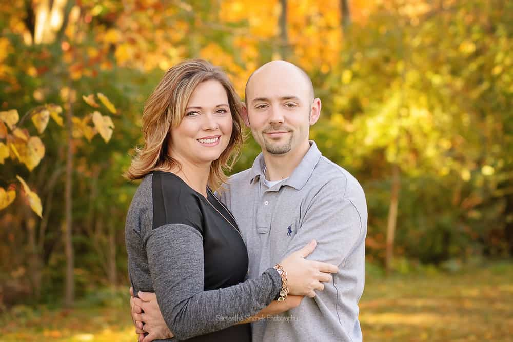 Beautiful couple at Ault Park family photography session