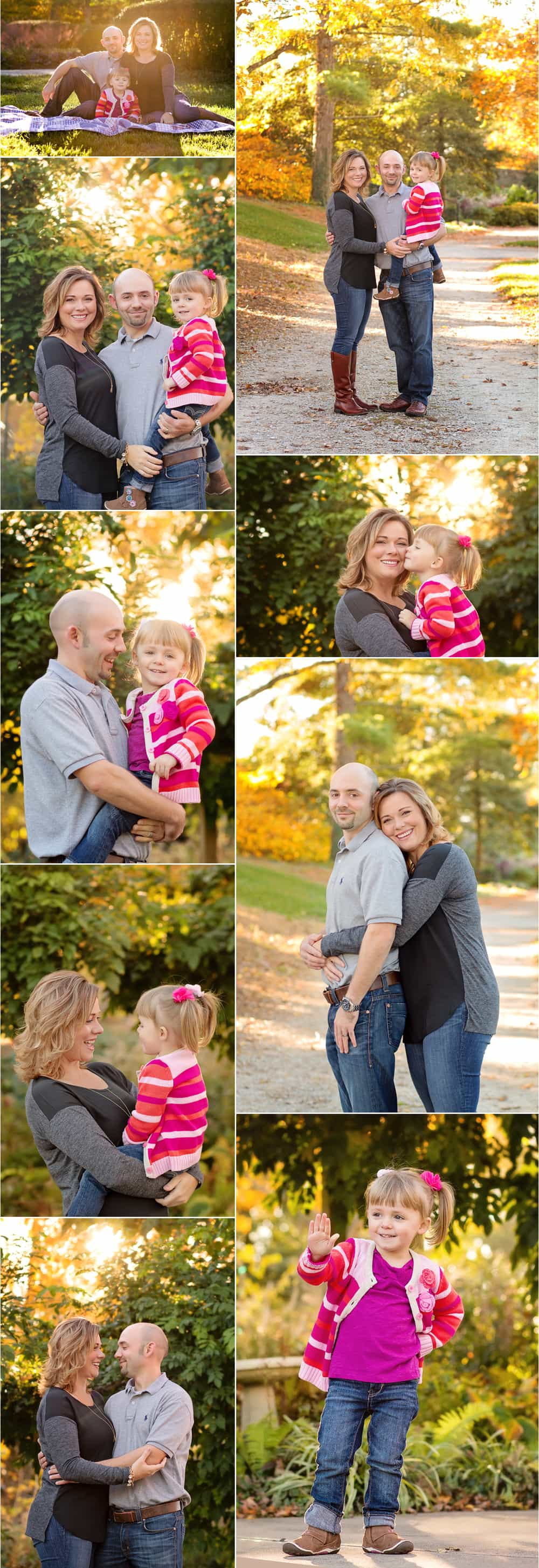 Wood Family storyboard from photo session at Ault Park