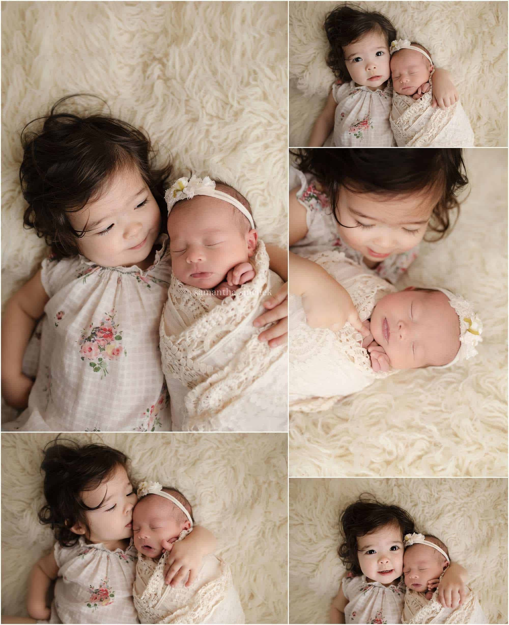 sisters hugging while getting photos with Samantha sinchek photography of Cincinnati Ohio