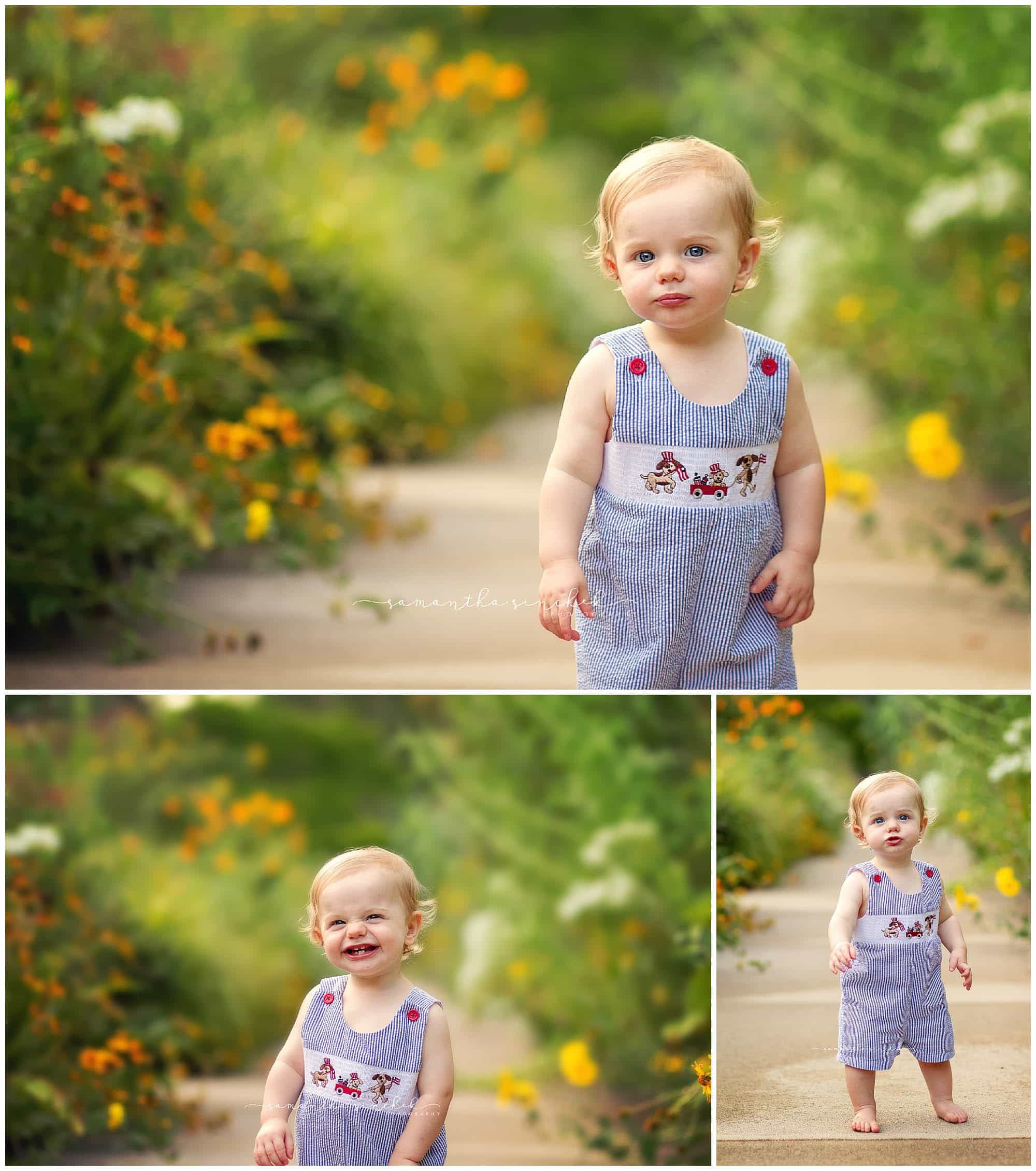 graham poses at ault park in cincinnati at one year photo session, ssamantha sinchek