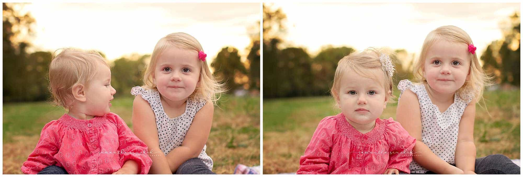 family of 4 during pictures at sharon woods in the fall with samantha sinchek photography