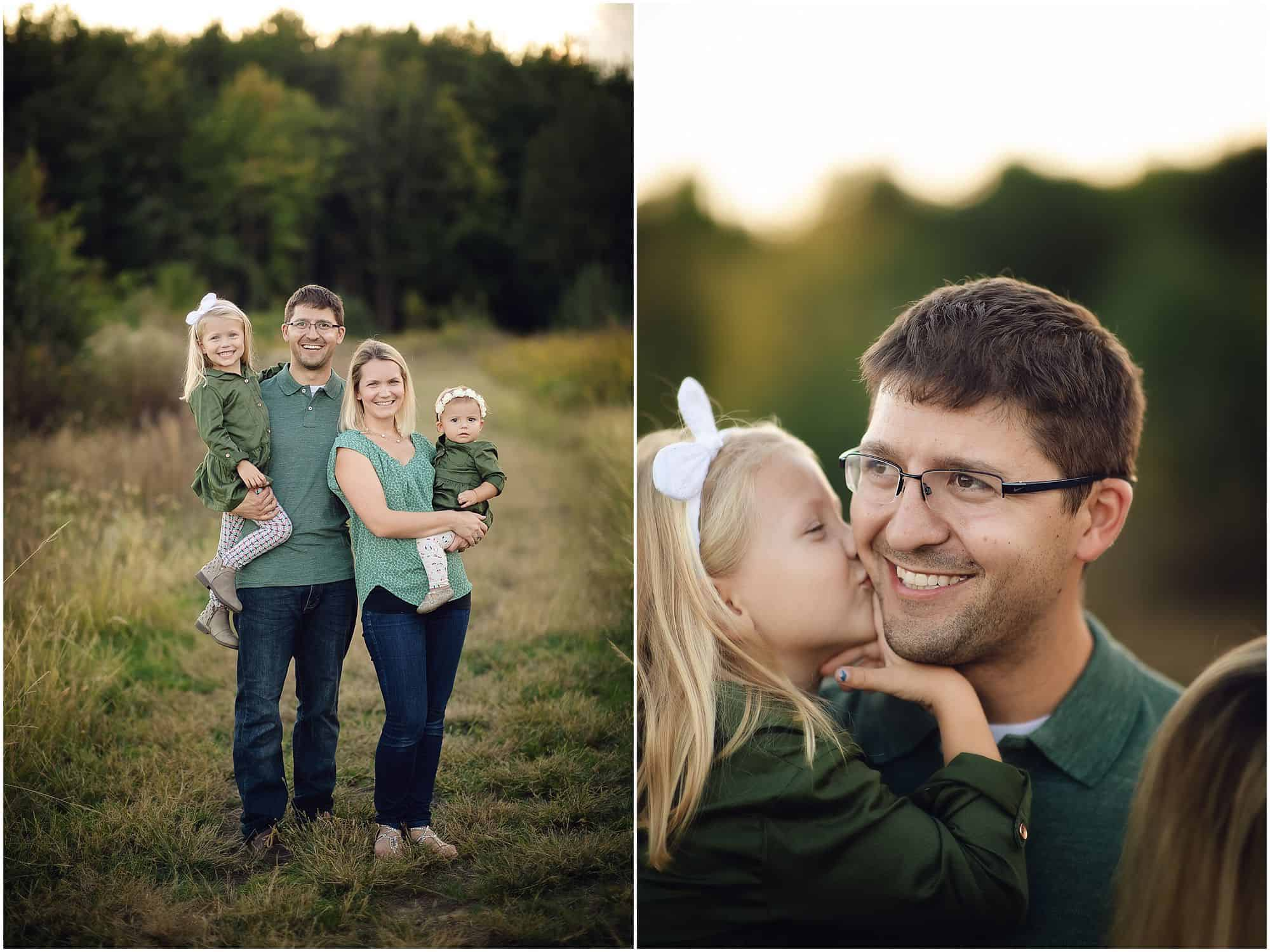 outdoor family photographer in Cincinnati Ohio at Summit Park in Blue Ash with Tomlin family during a fall day