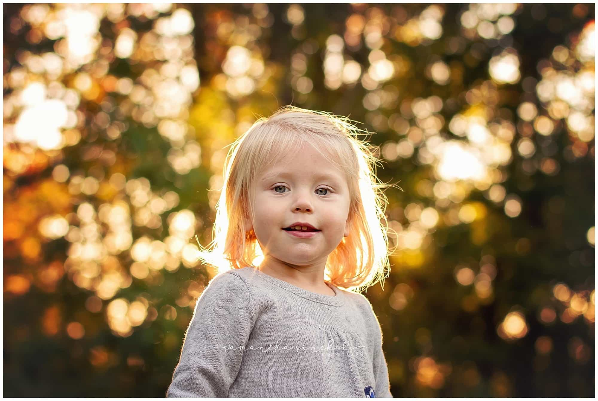 backlit sunny image in cincinnati at sharon woods with samantha sinchek photography