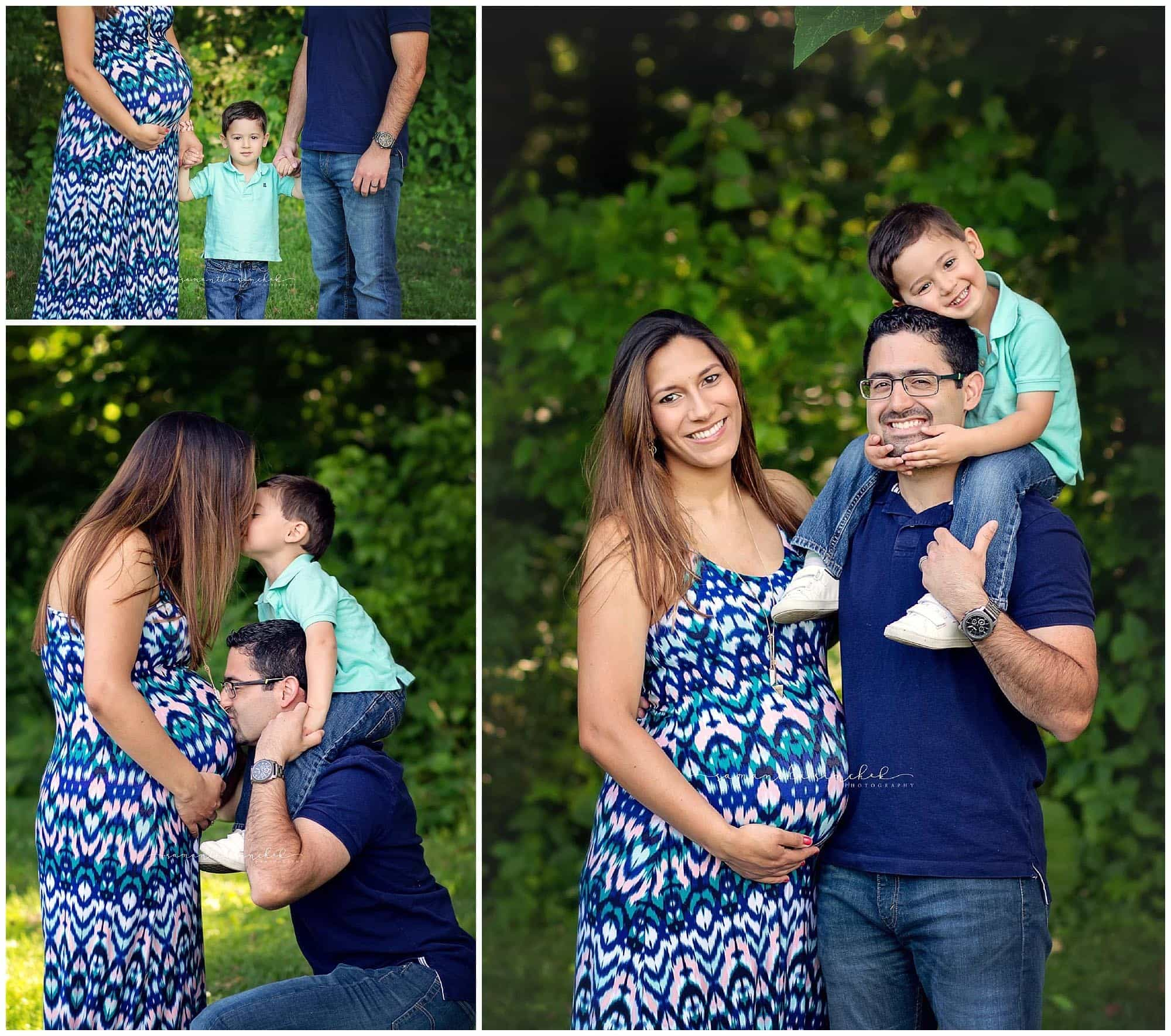 maternity session with carole and family at sharon woods