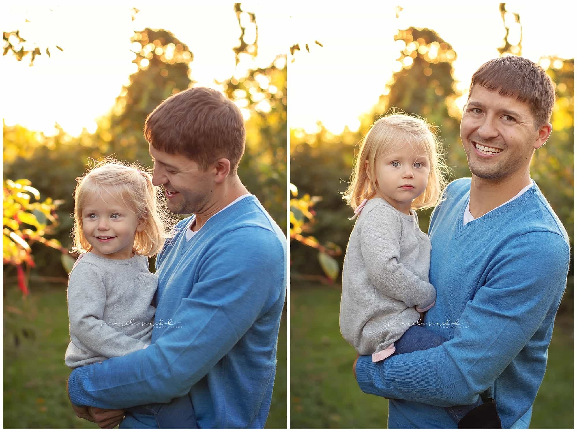 dad and daughter at sharon woods with samantha sinchek photography