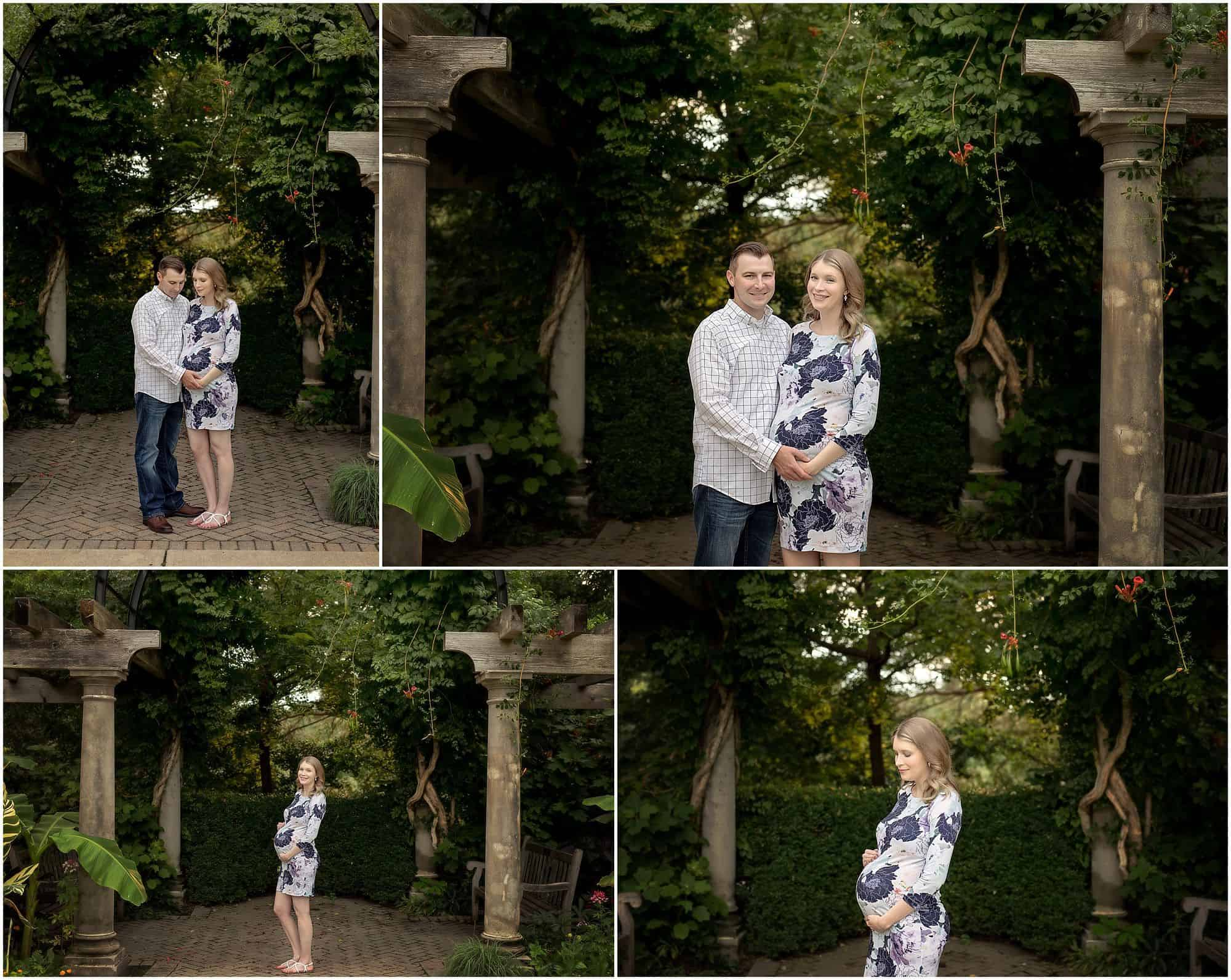 maternity pictures at Ault Park Cincinnati at Rose Garden with Samantha Sinchek Photography