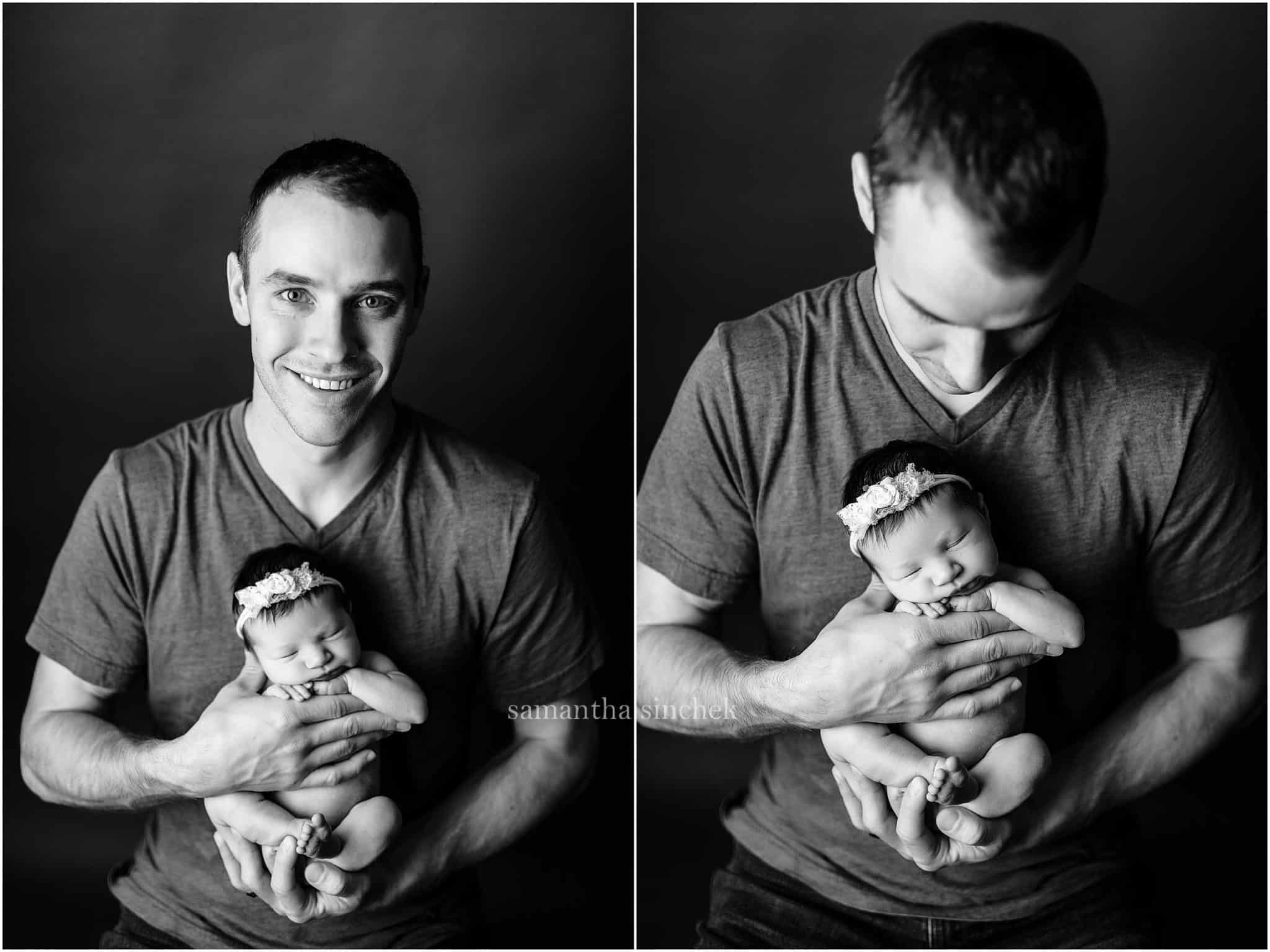 family photo at cincinnati newborn photographer Samantha sinchek