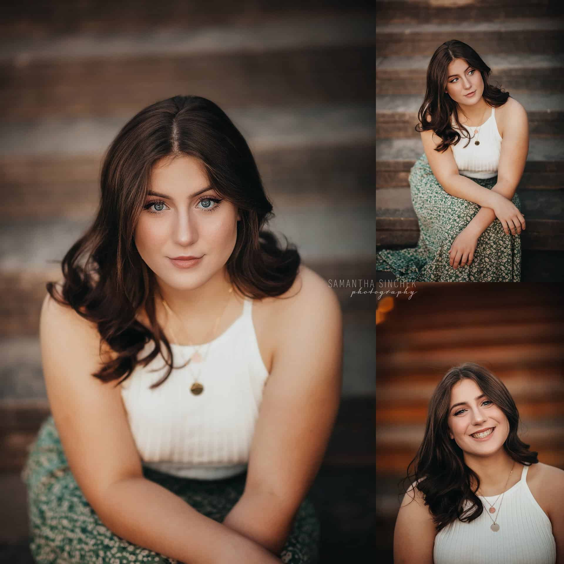 gorgeous high school senior at Ault Park cincinnati ohio with top senior photographer Samantha Sinchek
