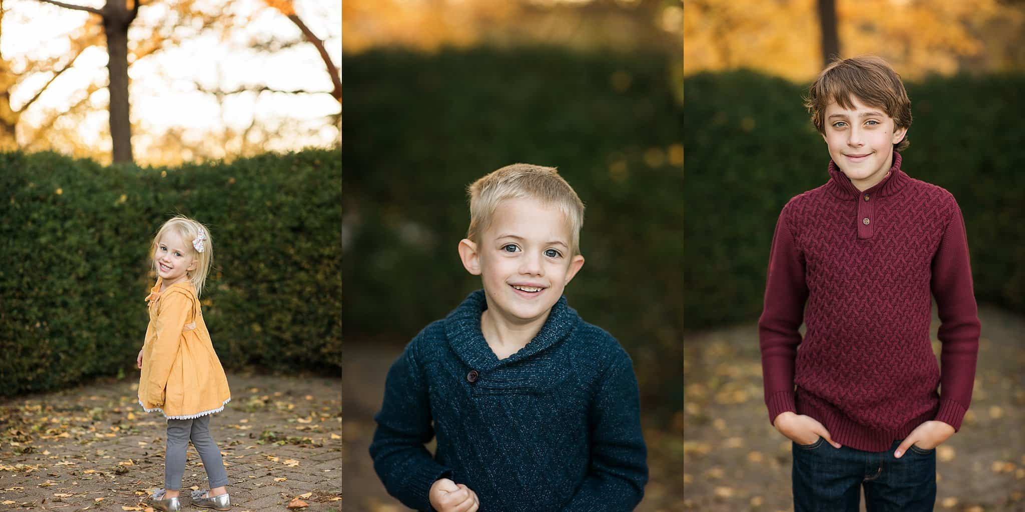 children smile at pictures with cincinnati photographer Sinchek at Ault Park