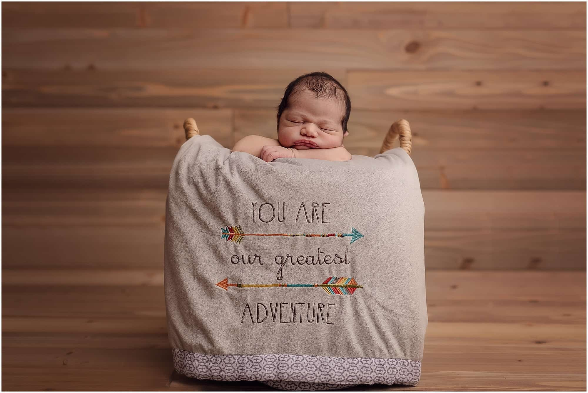 you are our greatest adventure newborn picture sinchek photography Cincinnati
