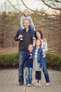 Cincinnati family stands together during Cincinnati photo session