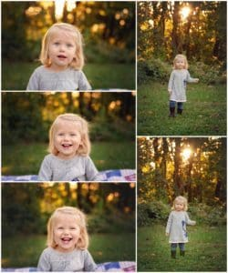 child smiles at pictures with samantha sinchek photography