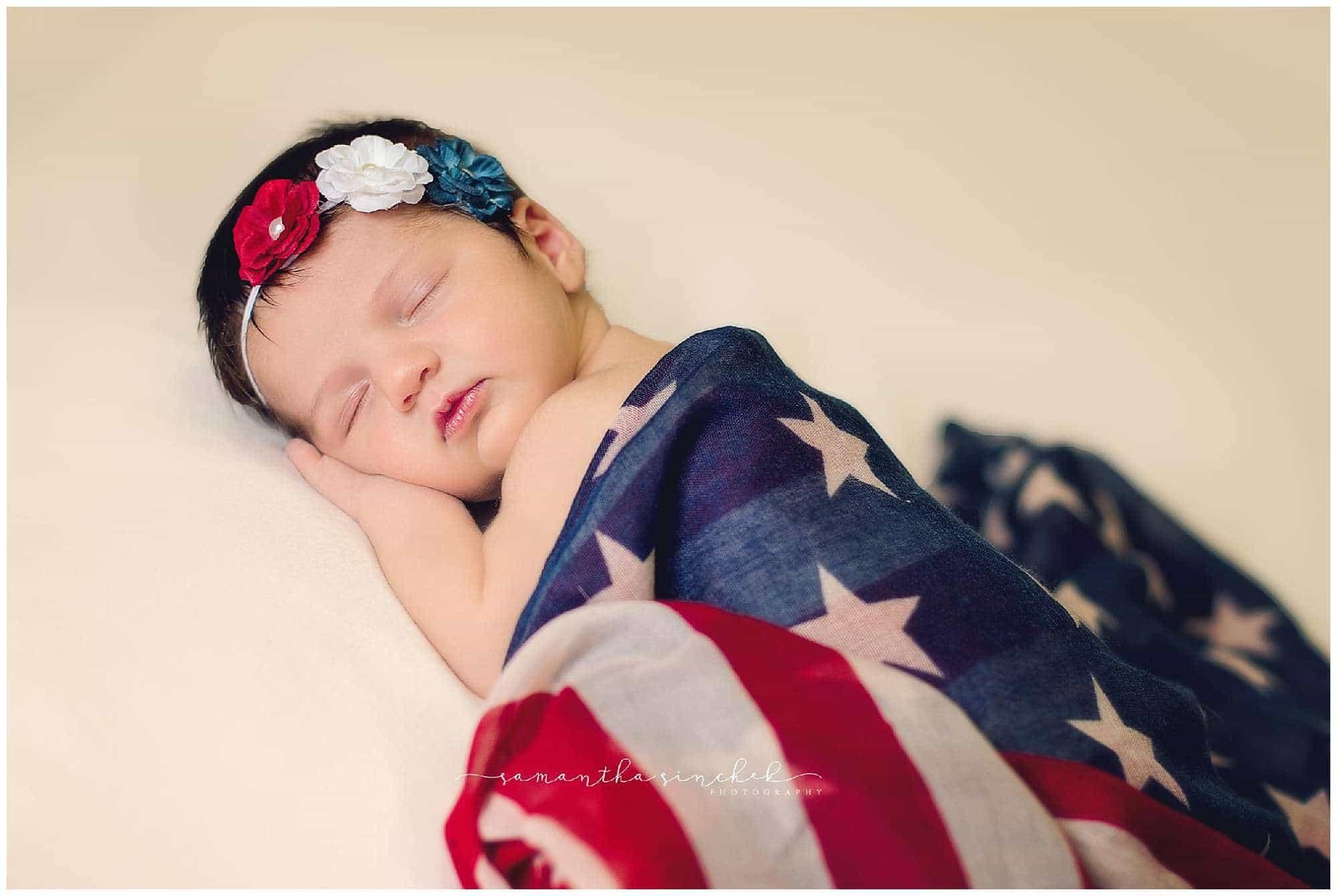 newborn sleeps during pictures in liberty township cincinnati ohio