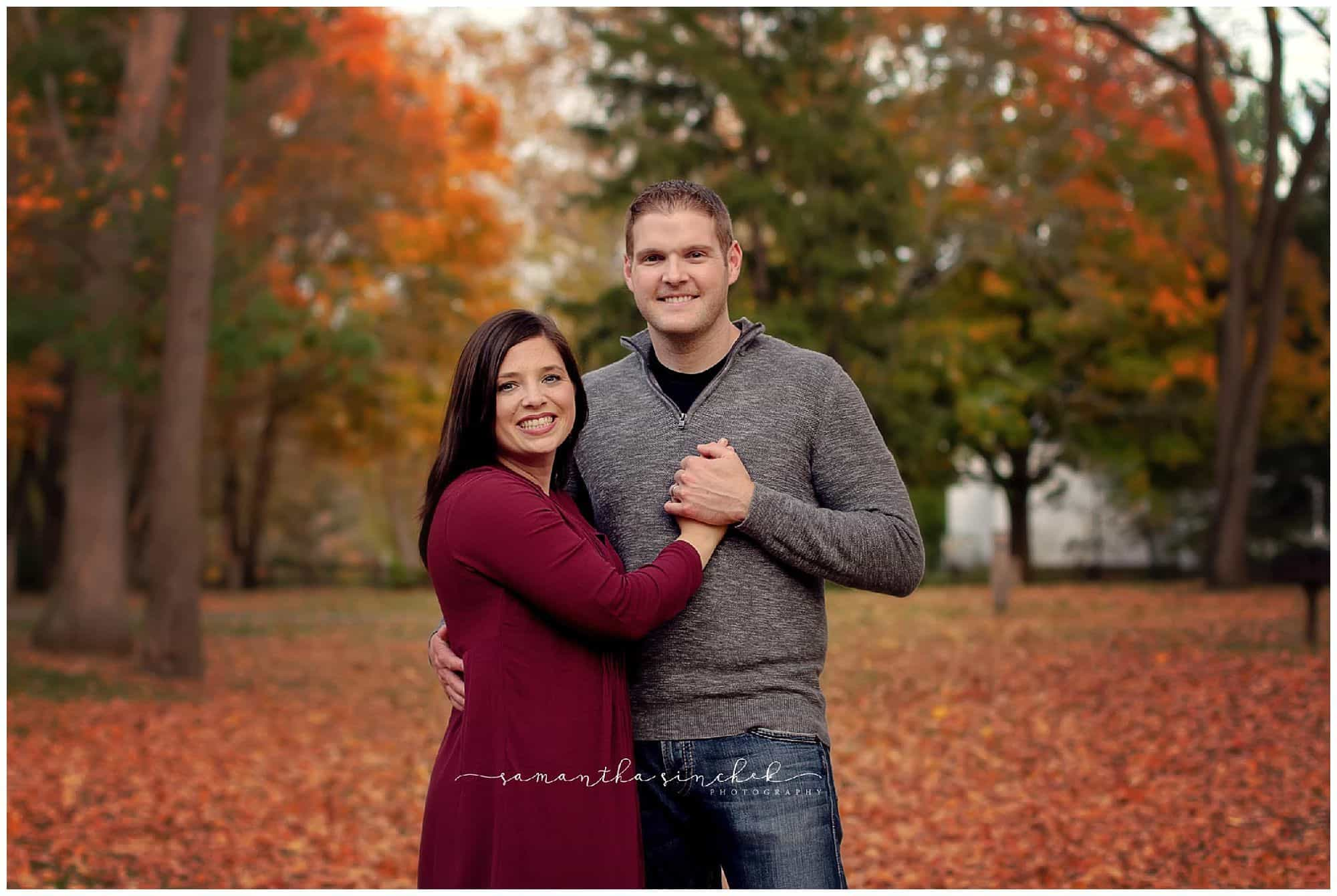 family mini session at sharon woods with boswell family photographer samantha sinchek