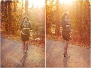 gorgeous baklit maternity session at sharon woods with samantha sinchek photography cincinnati